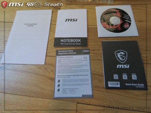 Documentation et pilotes du MSI GS63 7RD Stealth