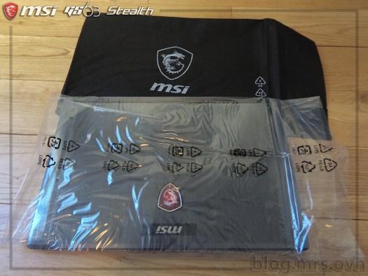 Déballage du MSI GS63 7RD Stealth