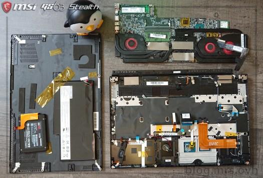 Vu éclaté - MSI GS63 7RD Stealth