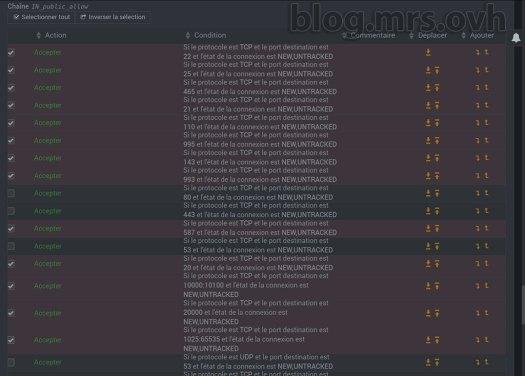 Webmin - Configuration IPtables