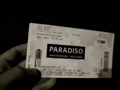 My ticket to the concert