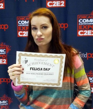 Felicia seems disappointed she didn't win.