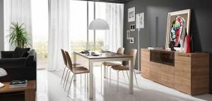Opción más tradicional con diseño moderno y acabados beladur de Lanmobel.