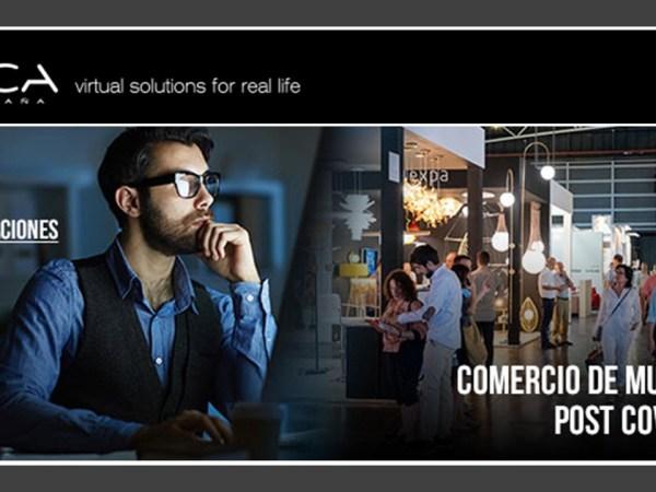 Video conferencia comercio muebles Post Covid -19