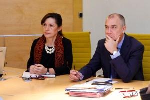 Ligia, presidenta de ACOMVAL, unto a Enrique Soto, Gerente de Feria Valencia.