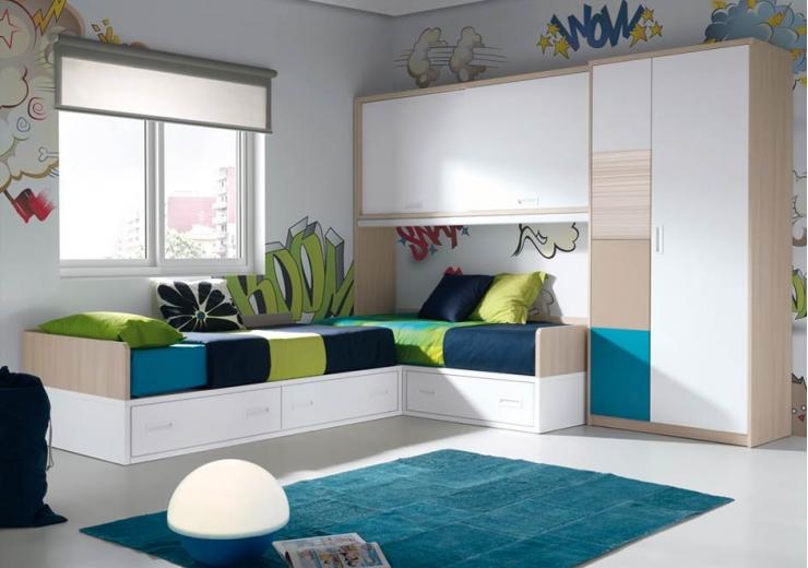 Habitaciones juveniles dobles  Imagui