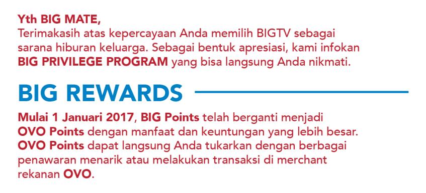 Perubahan BiG TV Points Menjadi OVO Points - WMTTQ