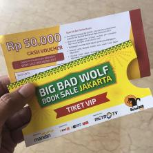 Tiket VIP Preview Sale Big Bad Wolf Book Sale Jakarta 2017 di ICE BSD
