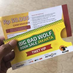 Tiket VIP Preview Sale Big Bad Wolf Book Sale Jakarta 2017 di ICE BSD