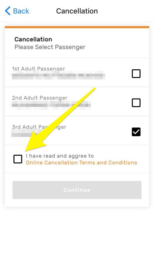 Pembatalan Tiket Kereta Api via Aplikasi KAI Access Langkah 5