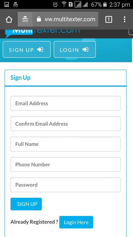 bulk sms sign up