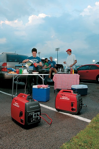 Tailgating with Honda Generator