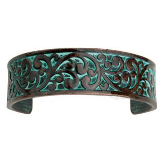 Turquoise Accented Thin Cuff Bracelet