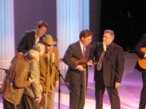 Mitch Jayne, Dean Webb, Doug Dillard, Tim O'Brien, Rodney Dillard (Nick Forester in the rear.)