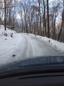 Picnic Hill Drive. Icy!