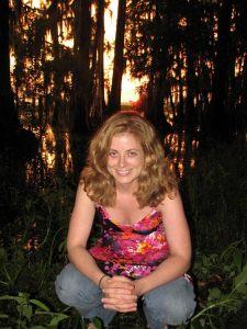 Jenny Obert in Dale's swamp.