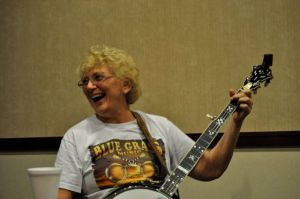 Susan Morrison at our Women's Banjo Camp