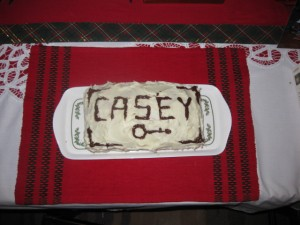 Casey's wonderful, banjo-rific birthday cake, made and decorated by Murphy.