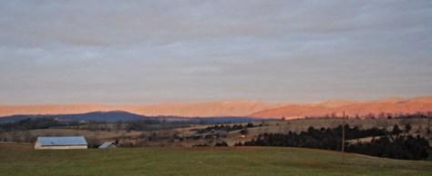 Sunrise on Great North Mountain