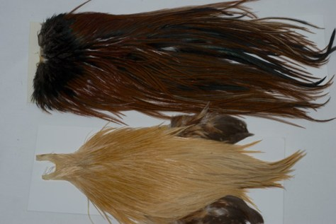 Metz Grade 1 Brown Rooster Saddle and Metz Grade 1 Light Ginger Rooster Neck Cape.
