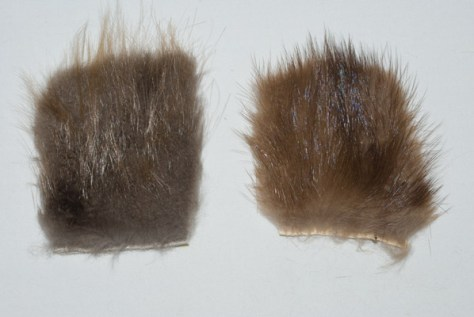Natural Beaver Dubbing Fur and Natural Mink Dubbing Fur.