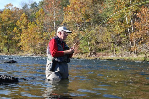 Harry Murray Folstaf Wading Staff Smallmouth Bass Fly Fishing Virginia