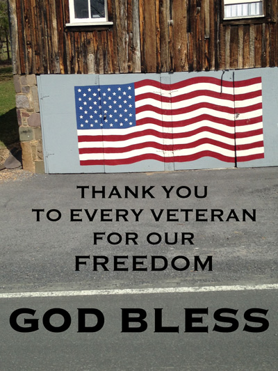 Thank you veterans for our freedom