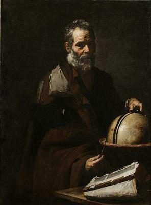 Josep Ribera, Tales o Anaxàgores, c. 1640, col·lecció particular.