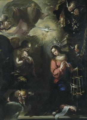 Francisco de Solís, Anunciació, 1664, Museu Nacional d'Art de Catalunya.