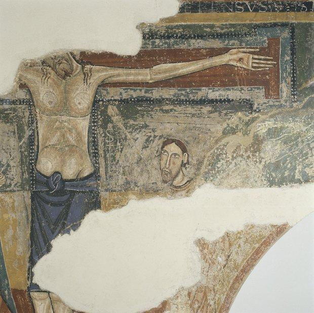 Crucifixió de Sorpe, mitjan s. XII, Museu Nacional d'Art de Catalunya