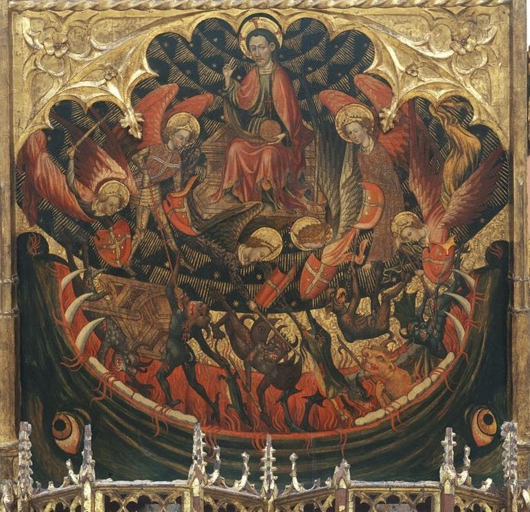 Jaume Cirera, Retaule de sant Miquel i sant Pere (detall de l'infiern), 1432-1433, Museu Nacional d'Art de Catalunya.