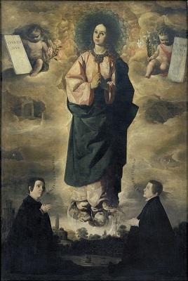 Francisco de Zurbarán, Immaculada Concepció, 1648-1649, Museu Nacional d'Art de Catalunya.