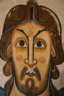 Maiestas Domini (detall), c. 1123, Sant Climent de Taüll. Museu Nacional d'Art de Catalunya