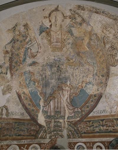 Absis de Sant Pere de la Seu d'Urgell. Detall del la mandorla