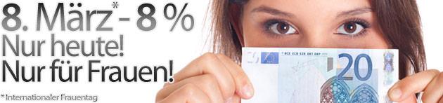 8. März = 8 Prozent – aber nur für Frauen!