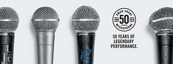 Legendäres Gesangsmikrofon Shure SM58 feiert 50. Geburtstag