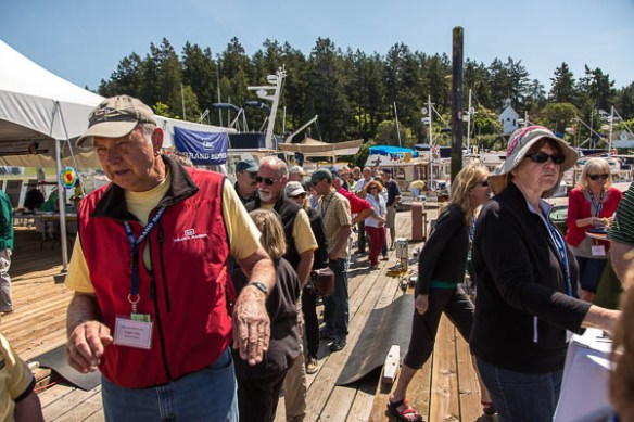 Archimedes Grand Banks rendezvous line for lunch