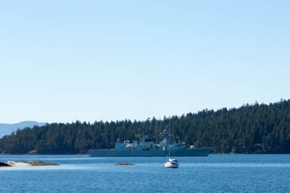mv Archimedes Canadian Navy Russell Island