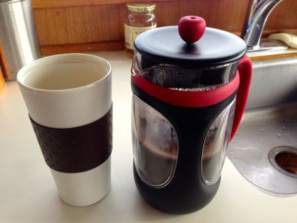 mv Archimedes Kims coffee press