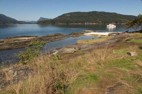 mv Archimedes anchored at Russell Island 4