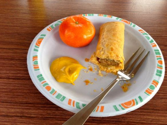 mv Archimedes sausage rolls for breakfast