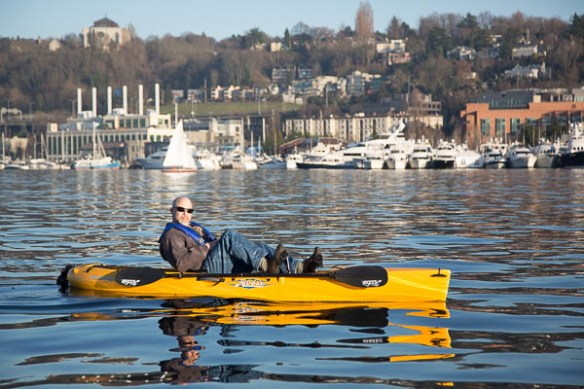 mv Archimedes Bruce in Hobie Kayak