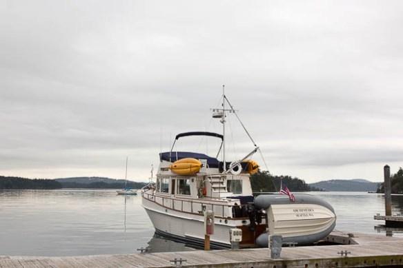 mv Archimedes in Deer Harbor