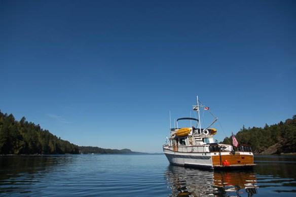 mv Archimedes alone in James Bay