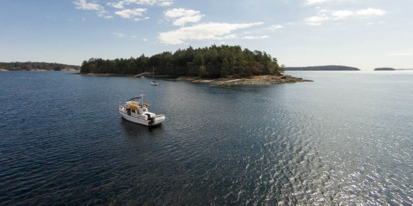 mv Archimedes at Russell Island