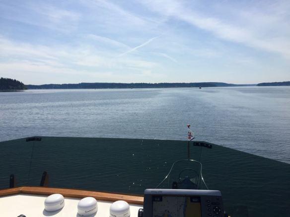 mv Archimedes motoring toward Agate Passage