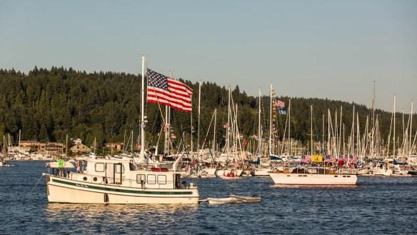 mv Archimedes Liberty Bay boat parade 1