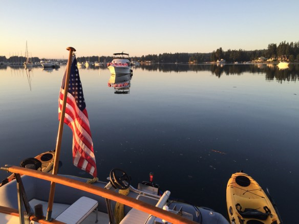 mv Archimedes Liberty Bay morning 1