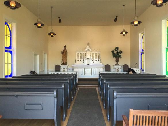 mv Archimedes Roche Harbor church interior
