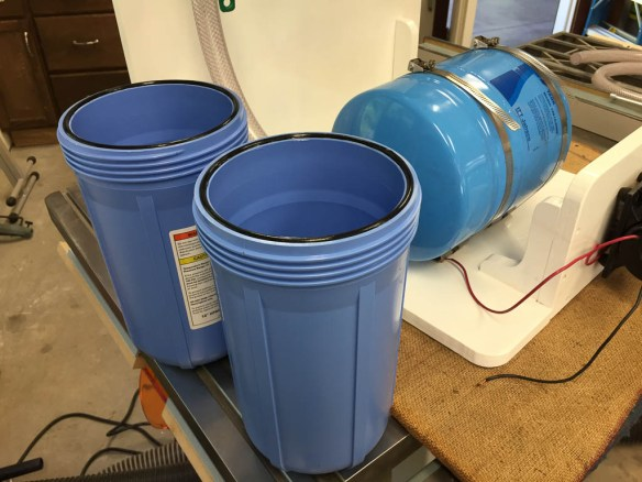 mv Archimedes filter canisters and o-rings